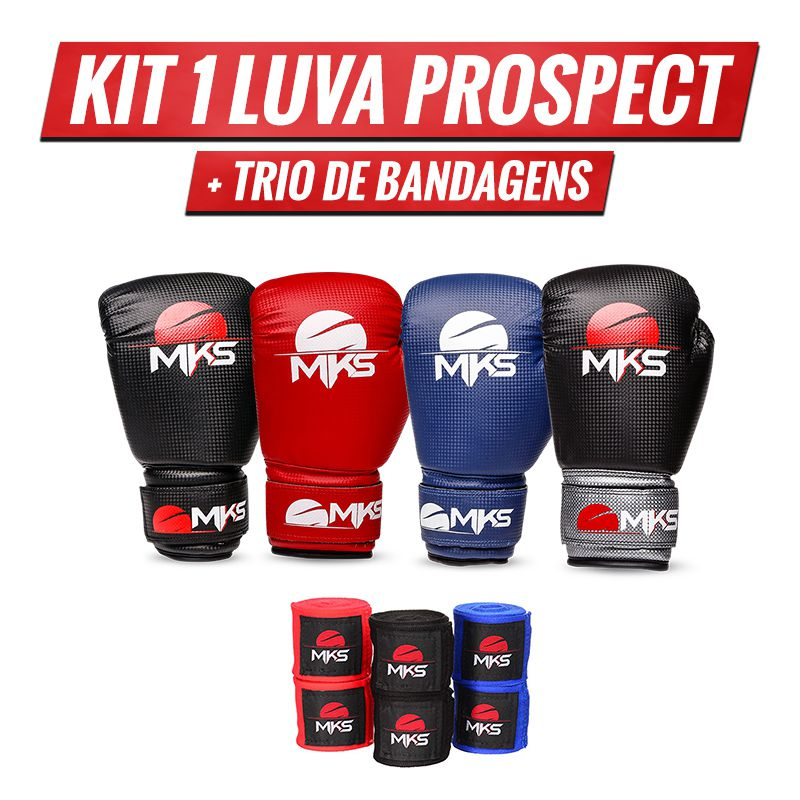 Combo Lutador: Prospect + Trio de Bandagens 4,55m