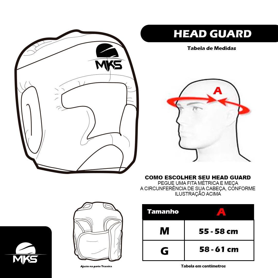 Head Guard Capacete de Boxe MKS Combat Azul