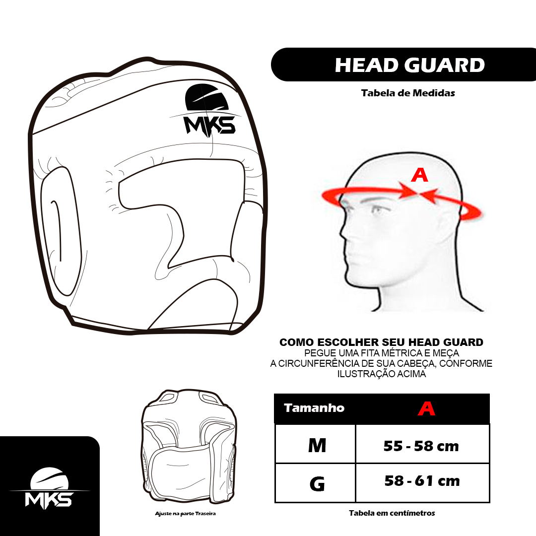 Head Guard Capacete de Boxe MKS Combat Preto