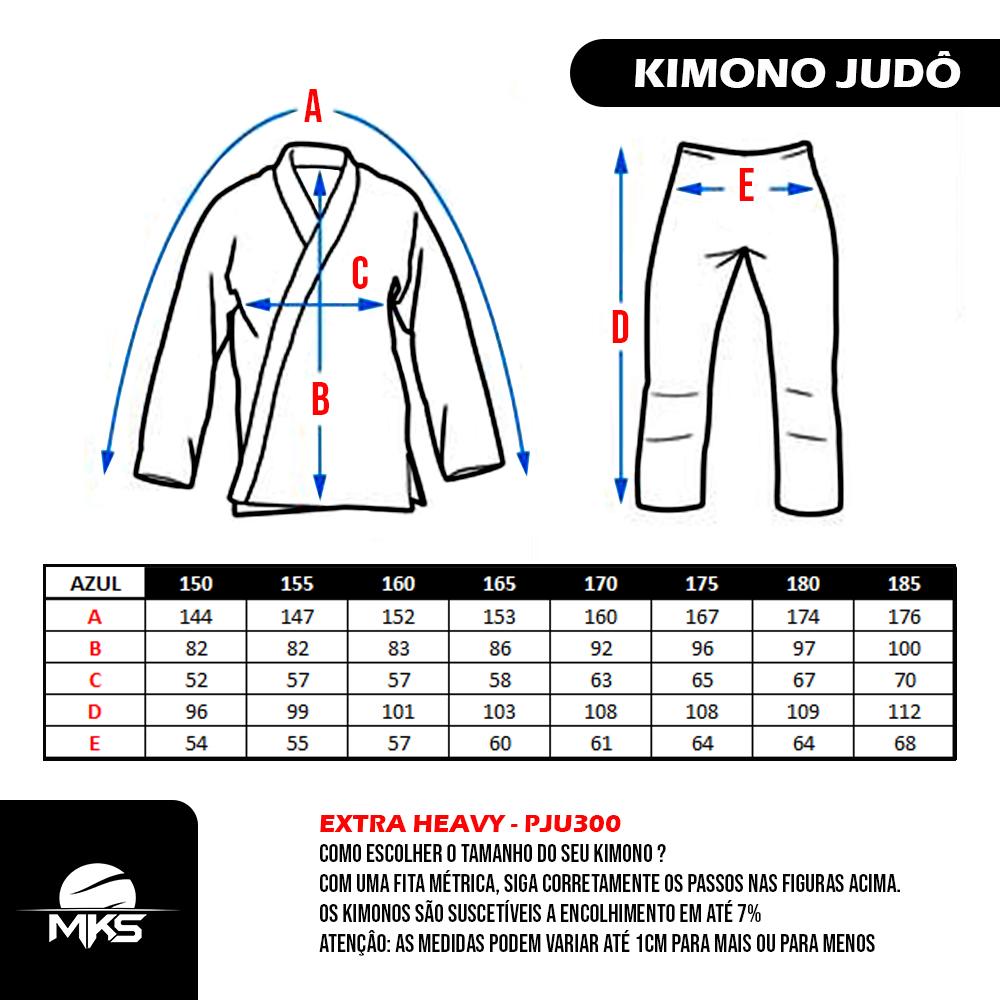 Kimono de Judô MKS Extra Heavy Azul