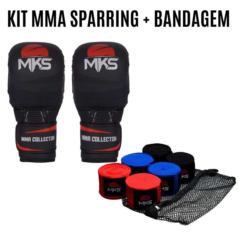 Kit MMA Sparring + Pack de Bandagem