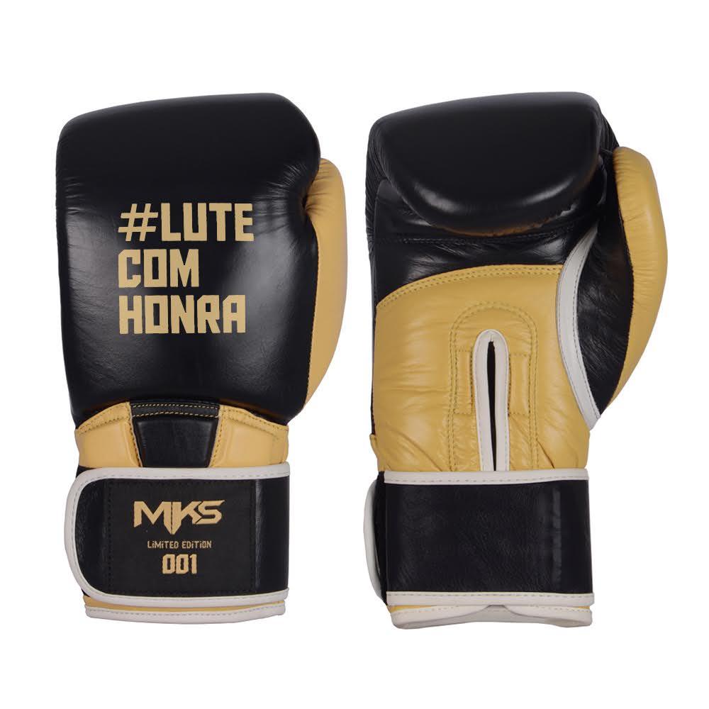 Luva de Boxe Couro MKS #LuteComHonra (Edição Limitada)