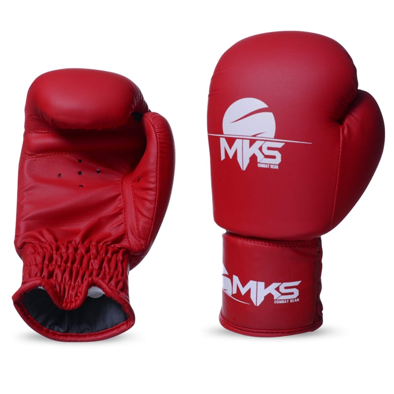 Luva de Boxe MKS Infantil Vermelha