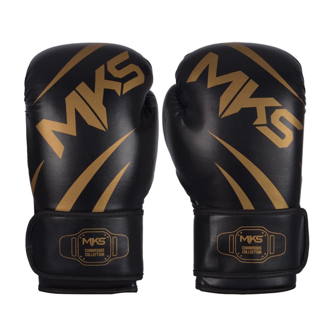 Luva de Boxe MKS Champions III Preto/Dourado