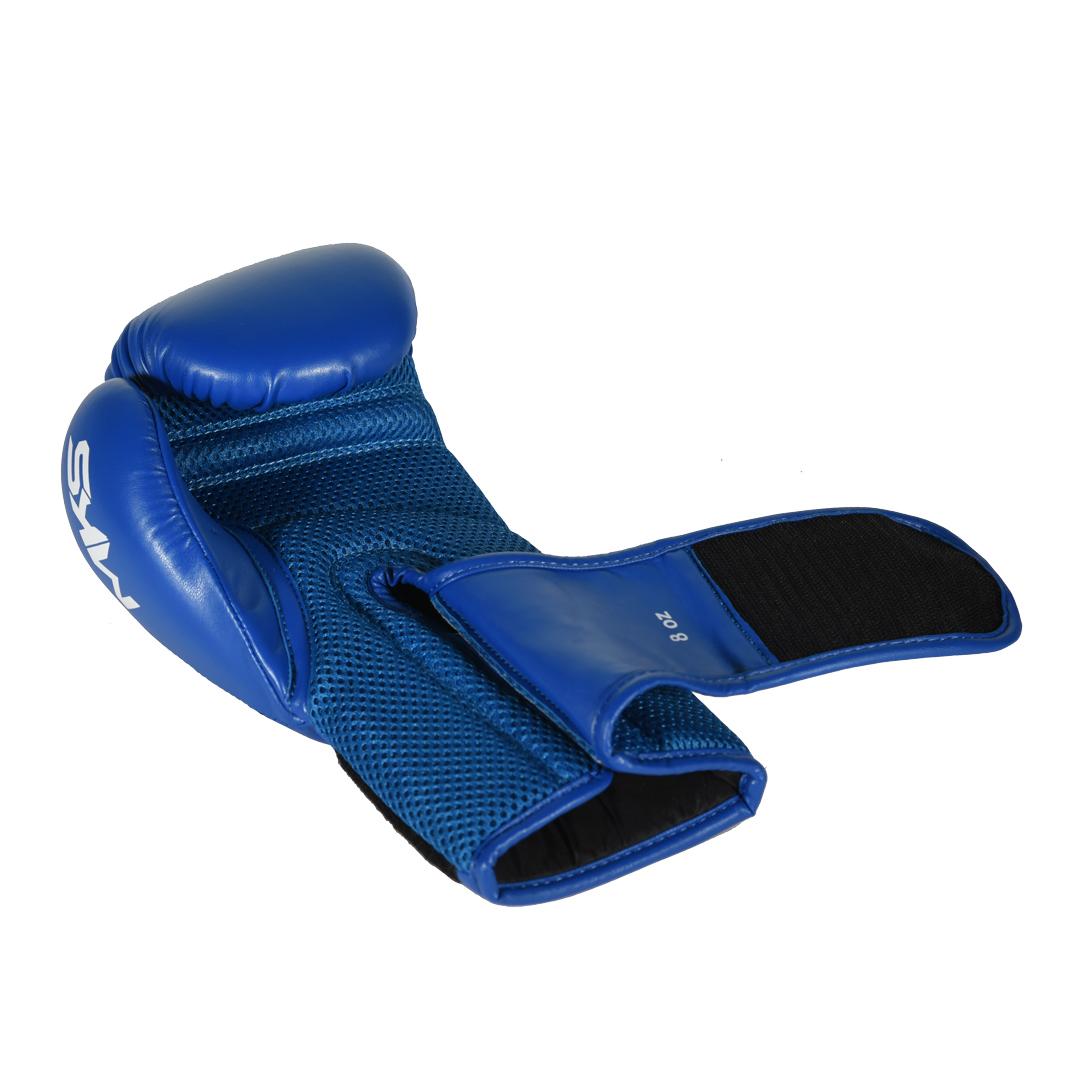 Luva de Boxe MKS Combat Infantil Hero Azul 8 Oz