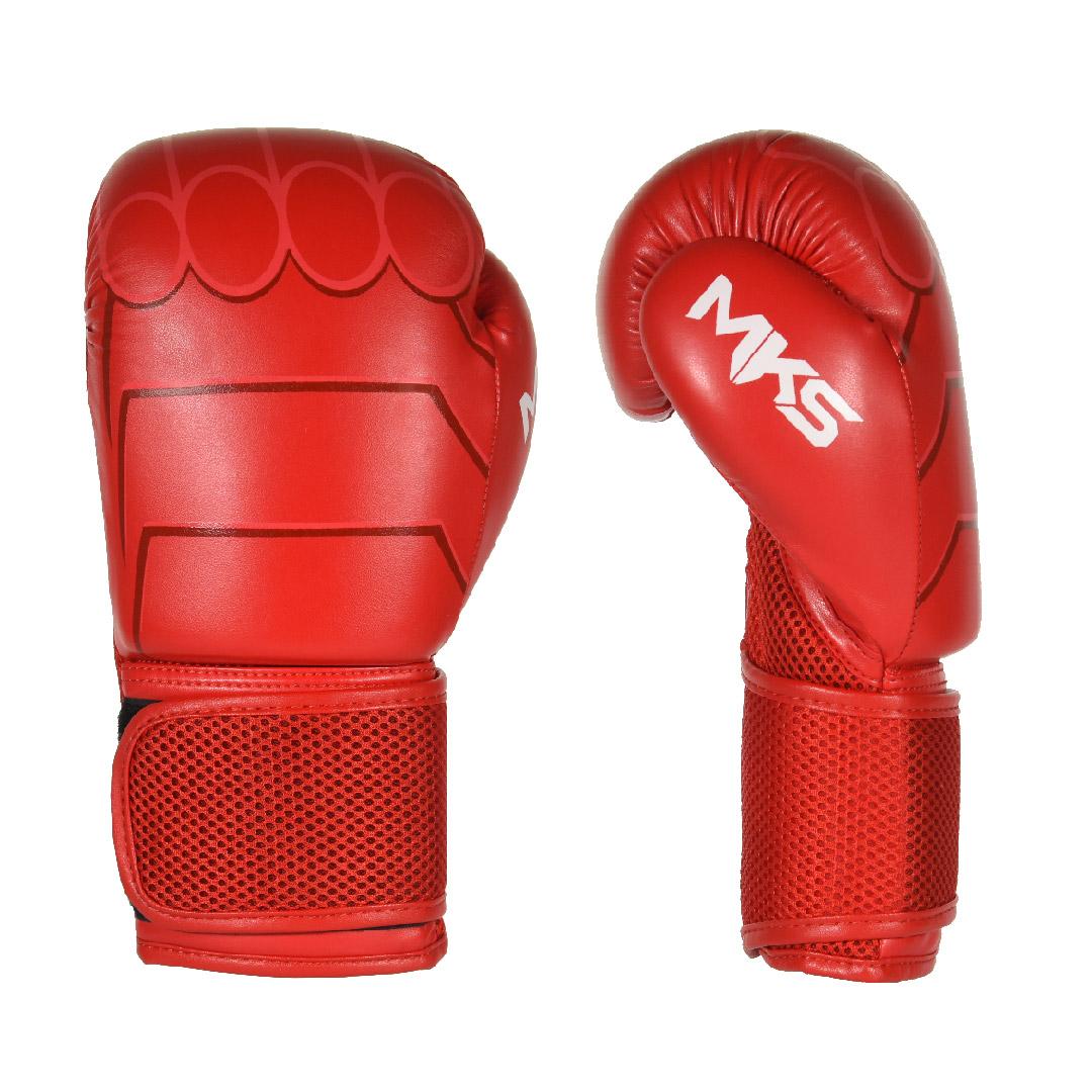 Luva de Boxe MKS Combat Infantil Hero Vermelha 8 Oz