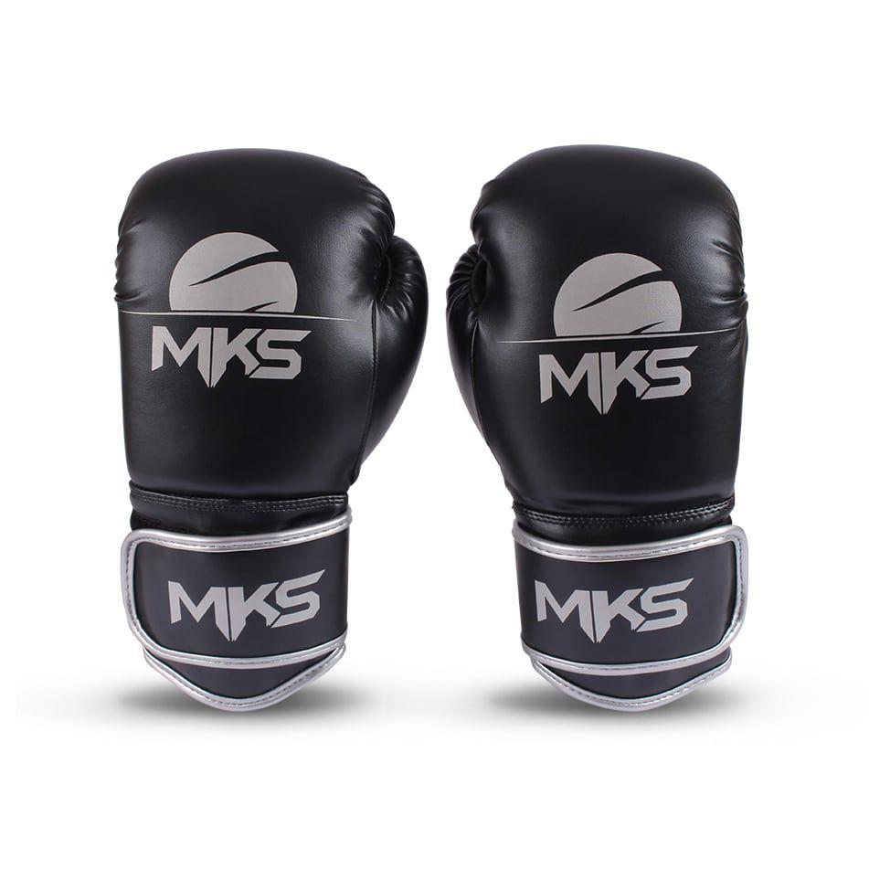 a4ceabf20 Luva de Boxe MKS Energy Black   Silver - Luva de boxe e muay thai ...