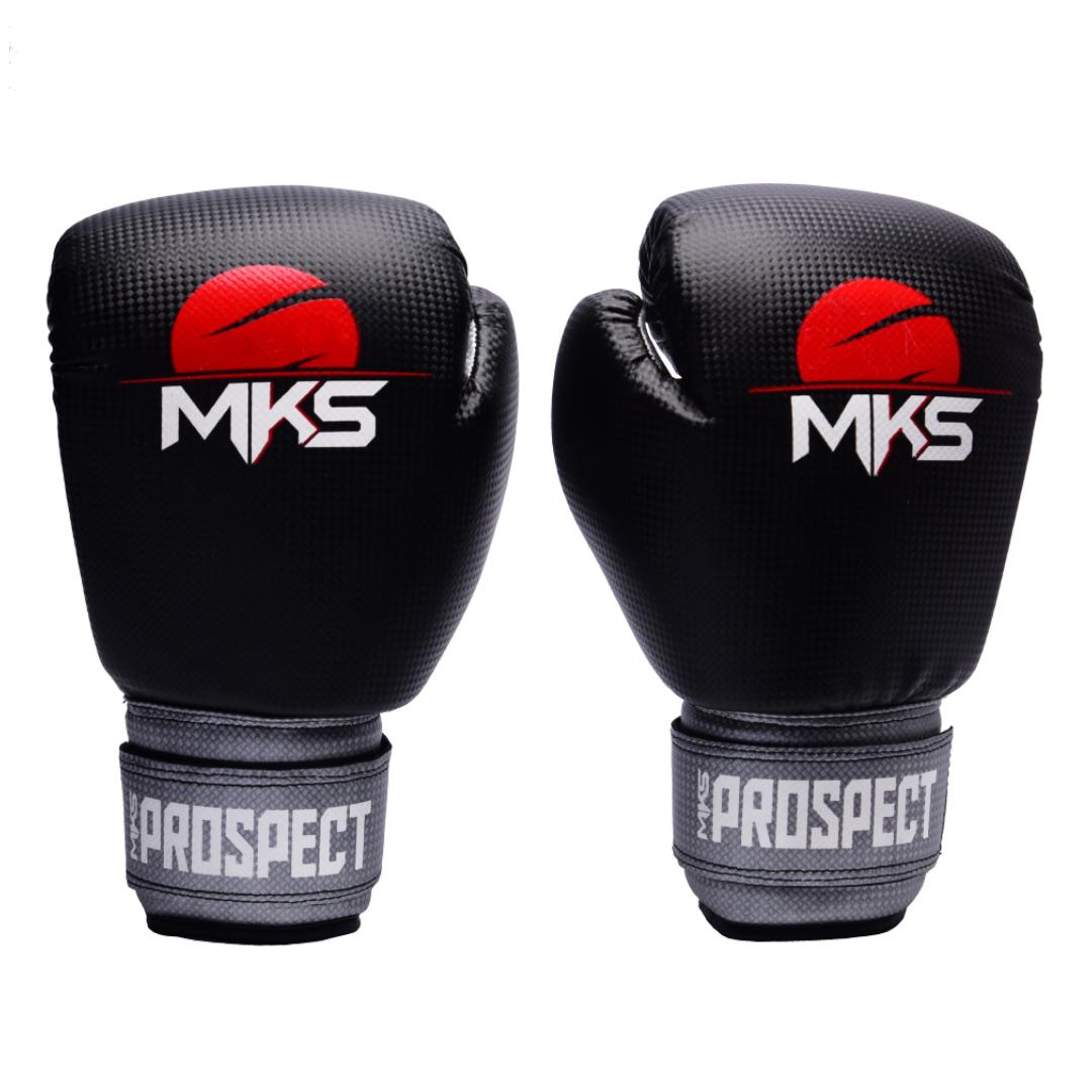 Luva de Boxe MKS New Prospect Black Silver