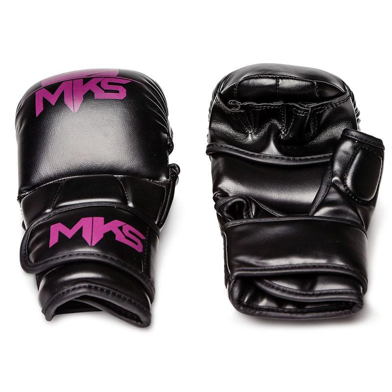 Luva de MMA Sparring MKS Preta/Roxa