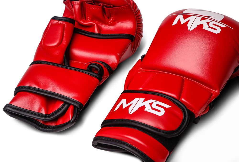 Luva de MMA Sparring MKS Vermelha/Branca
