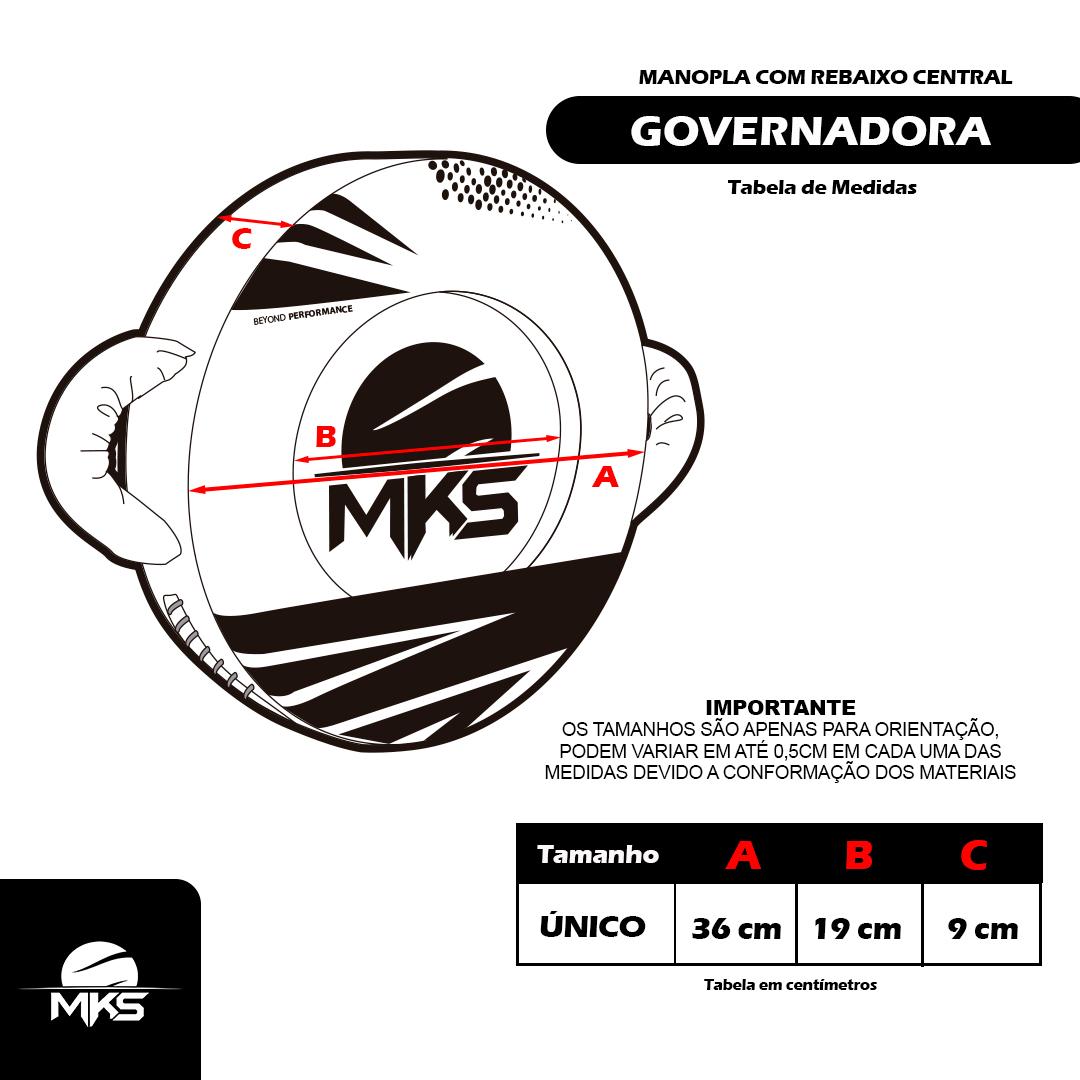 Manopla Governadora PRO MKS Combat com rebaixo central