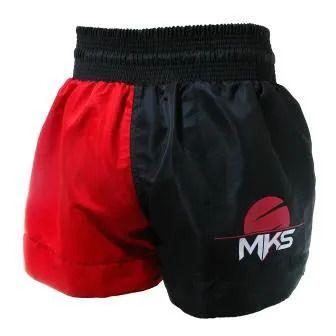 Shorts de Muay Thai MKS Fighter - Vermelho/Preto