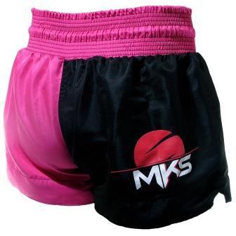 Shorts de Muay Thai MKS - Rosa/Preto