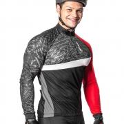Camisa Ciclista Manga longa Poker Ziper Frost 04233