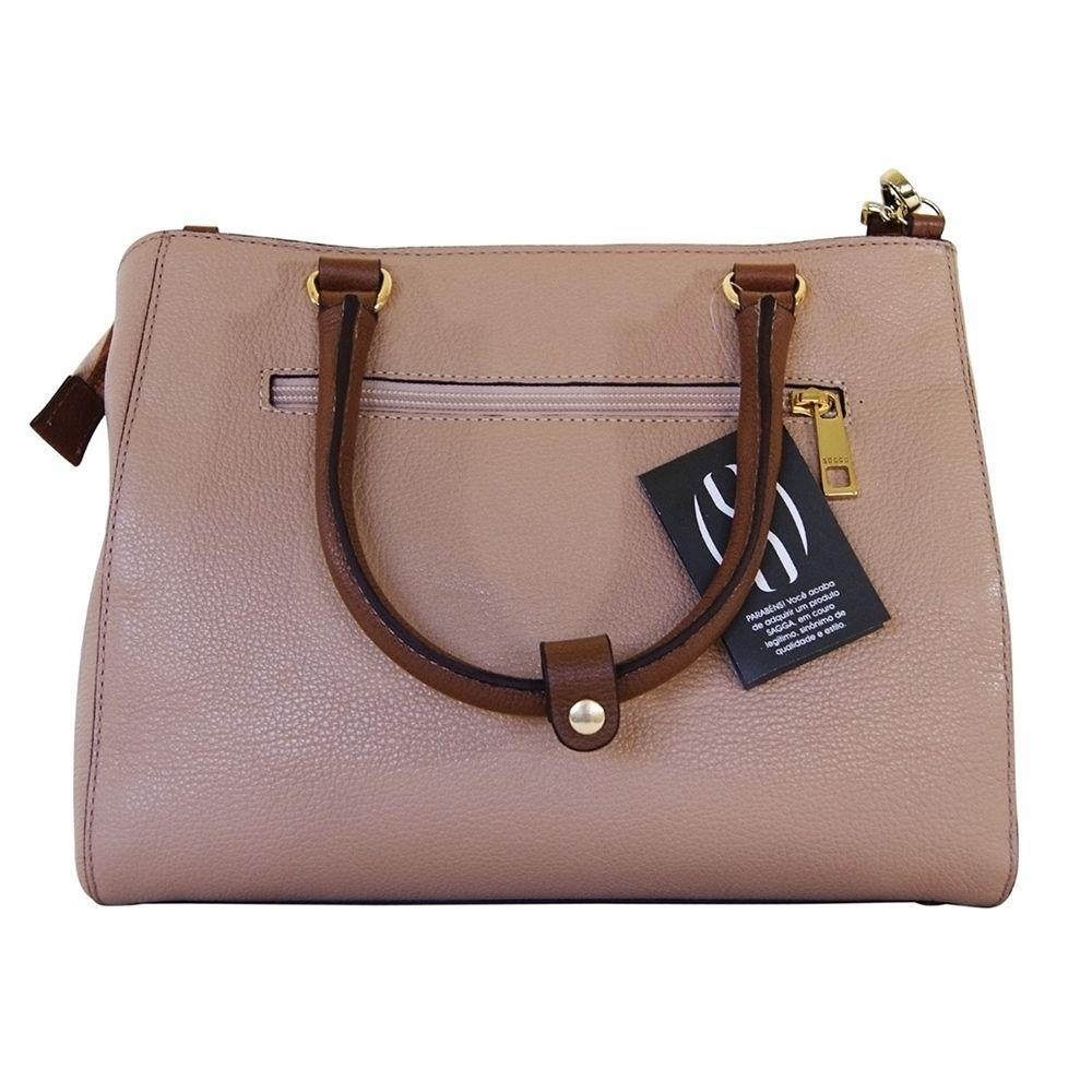 Bolsa Bag Sagga Couro Caramelo