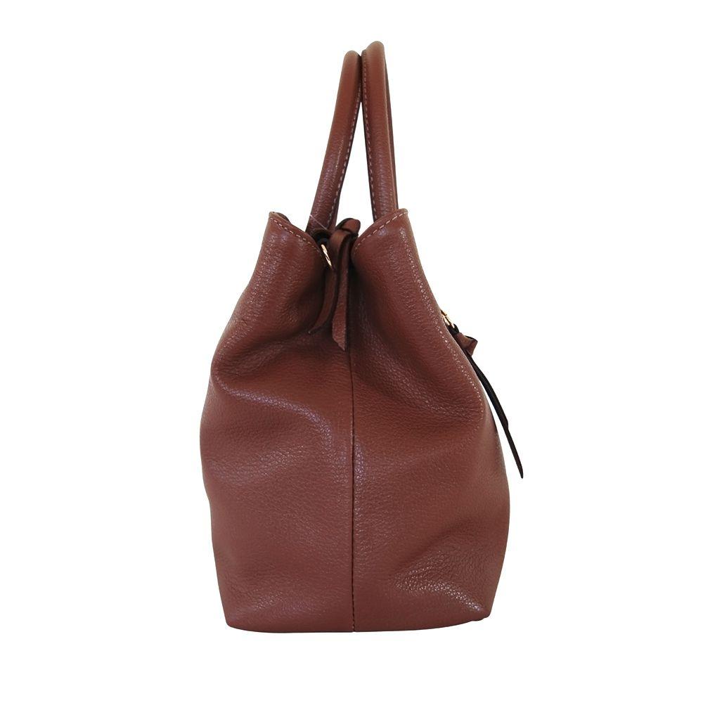 Bolsa Bag Sagga Couro Marrom