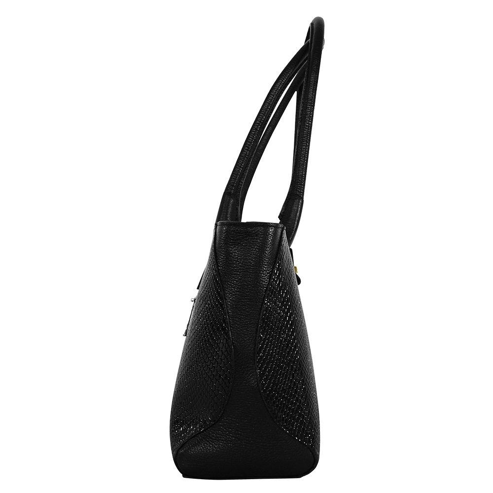 Bolsa Bag Sagga Couro Preta