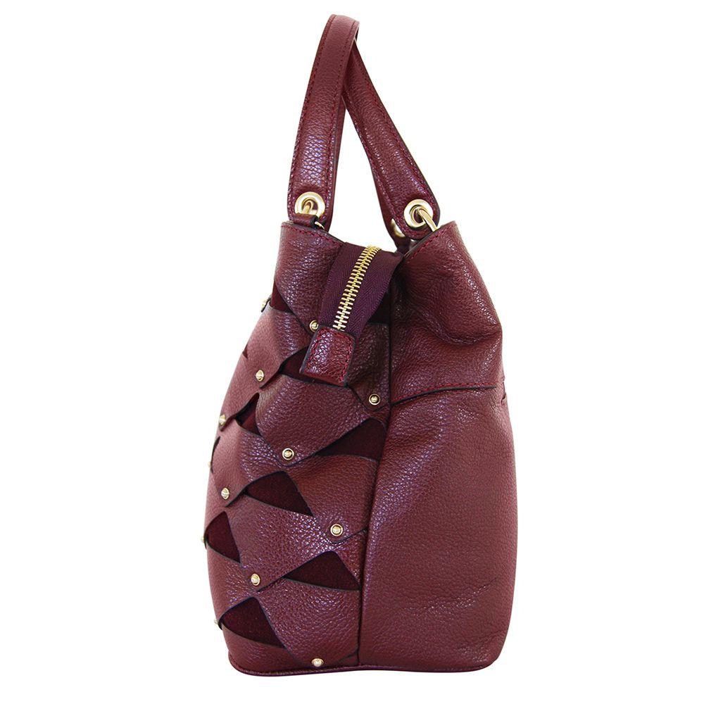Bolsa Bag Sagga Couro Vinho
