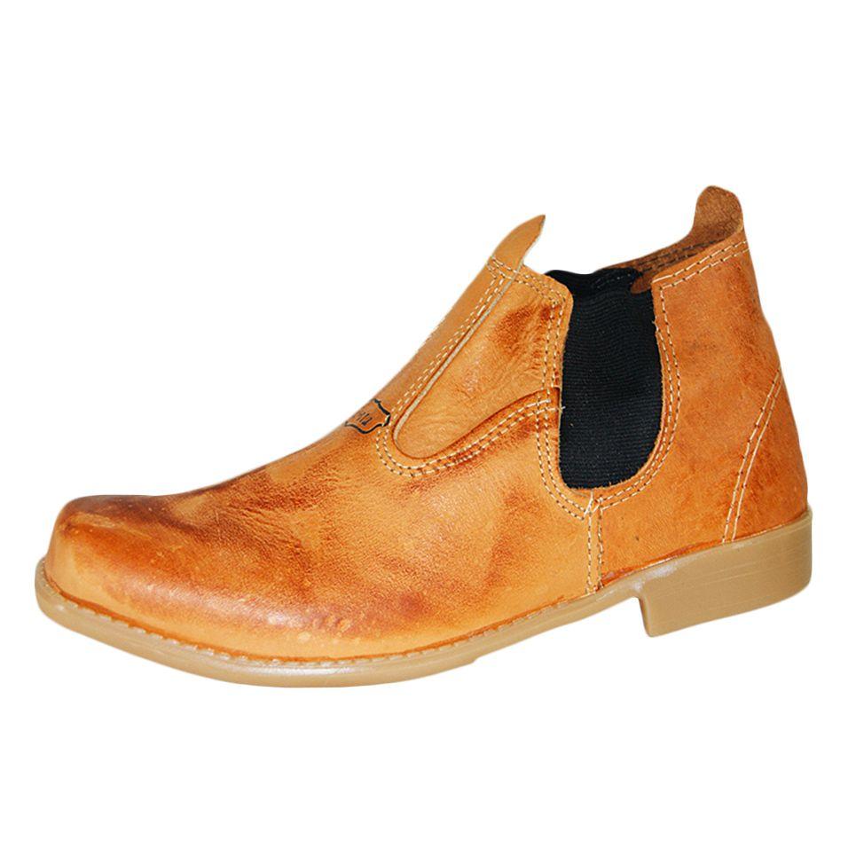 Bota Shoes Shoes Cano Médio Mostarda