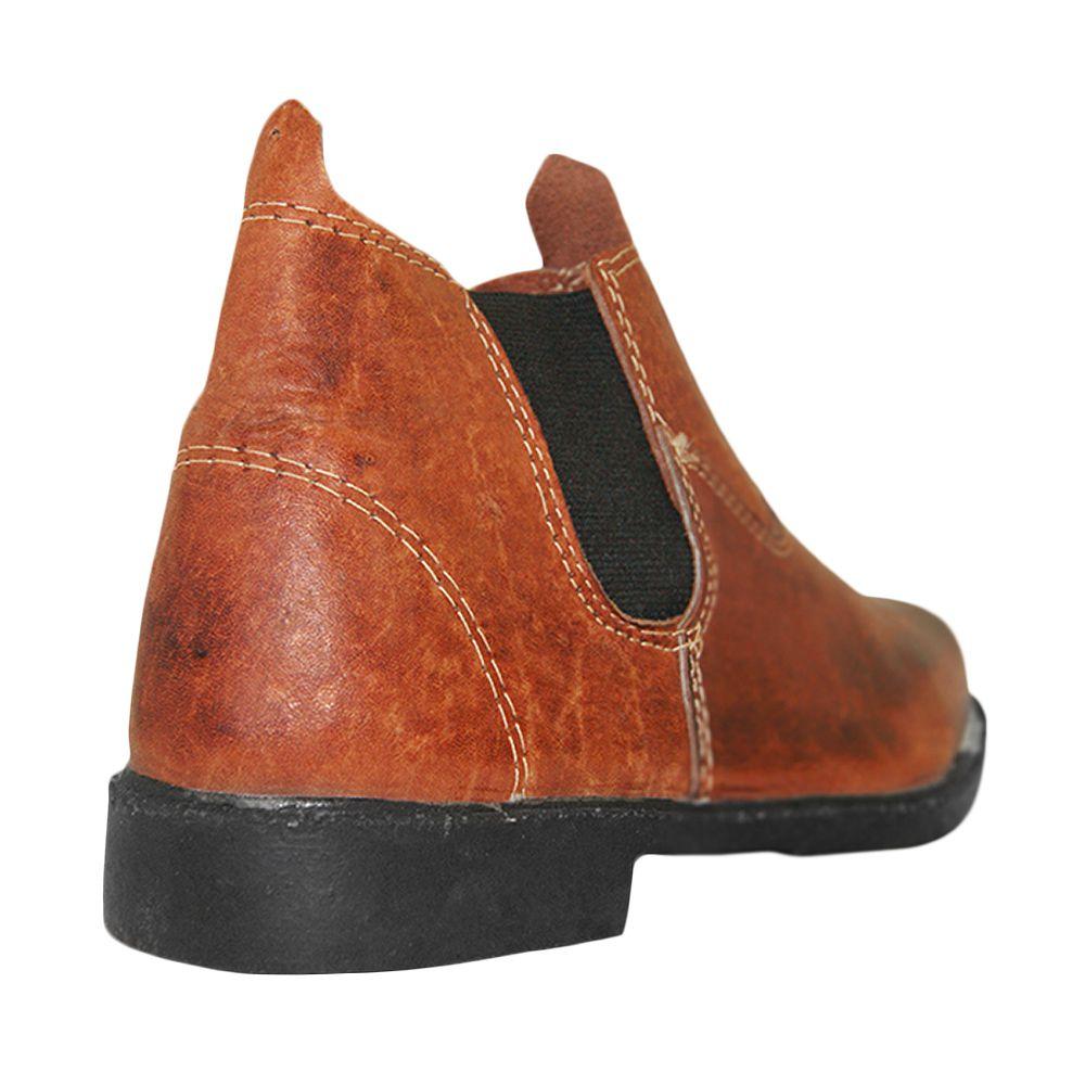 Bota Shoes Shoes Cano Médio Marrom
