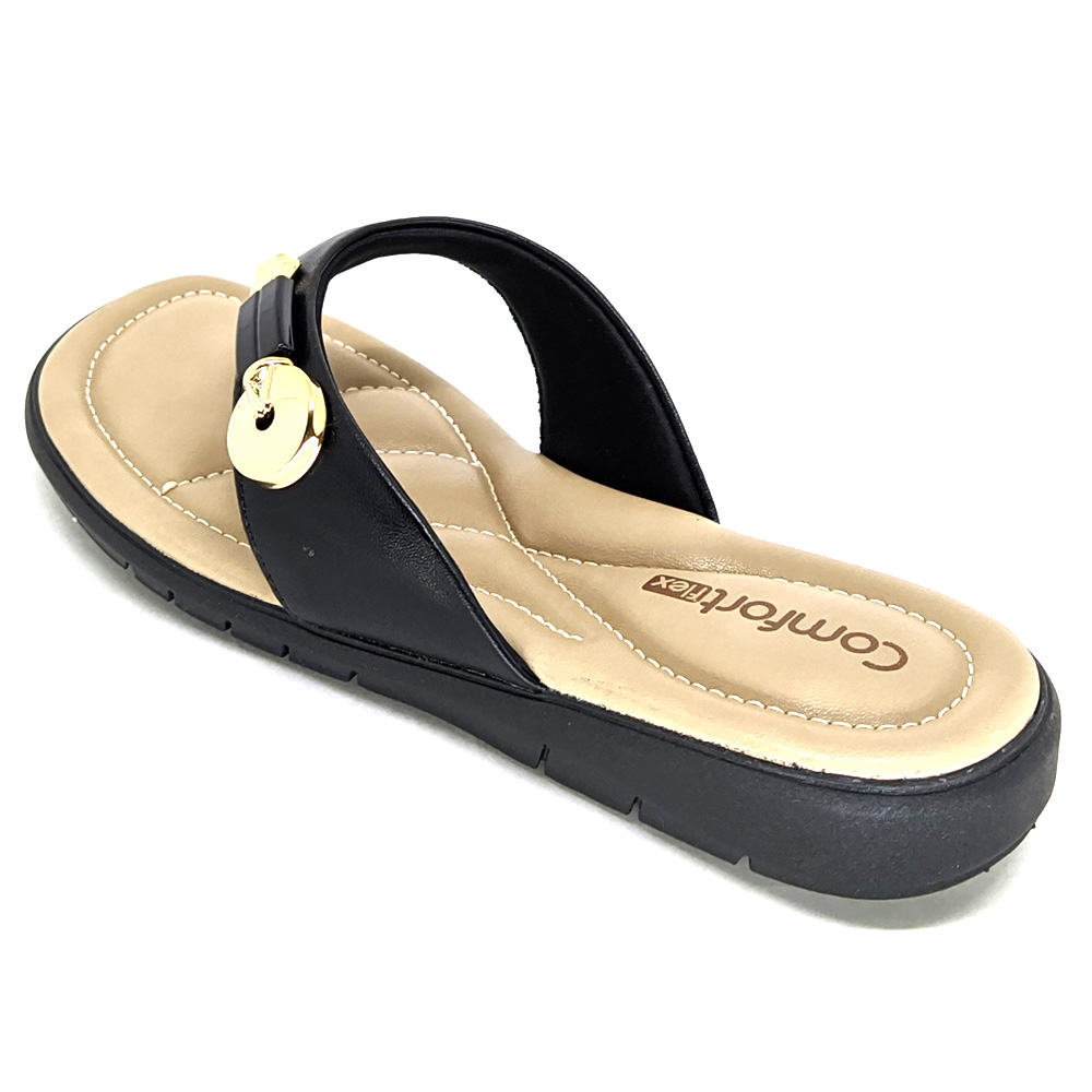 Chinelo Comfortflex Dedo com Pedraria 21-80401