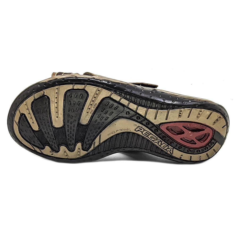 Chinelo Pegada Couro com Velcro 131601
