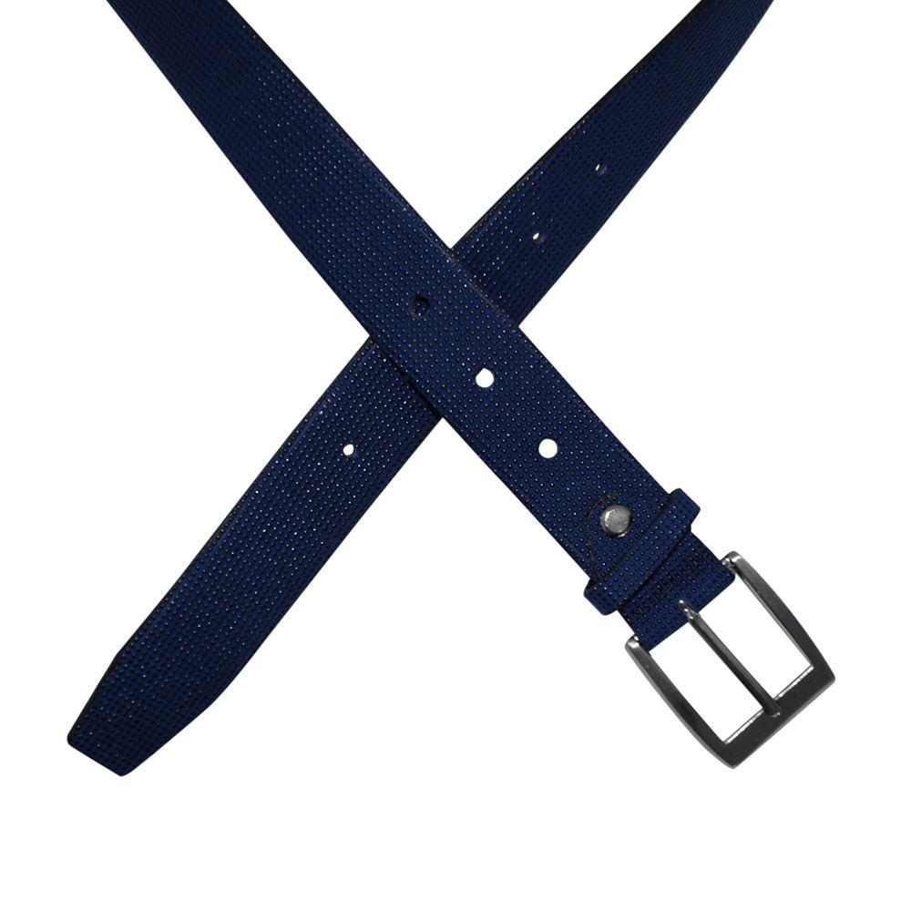 Cinto Gofer Couro Texturizado Azul