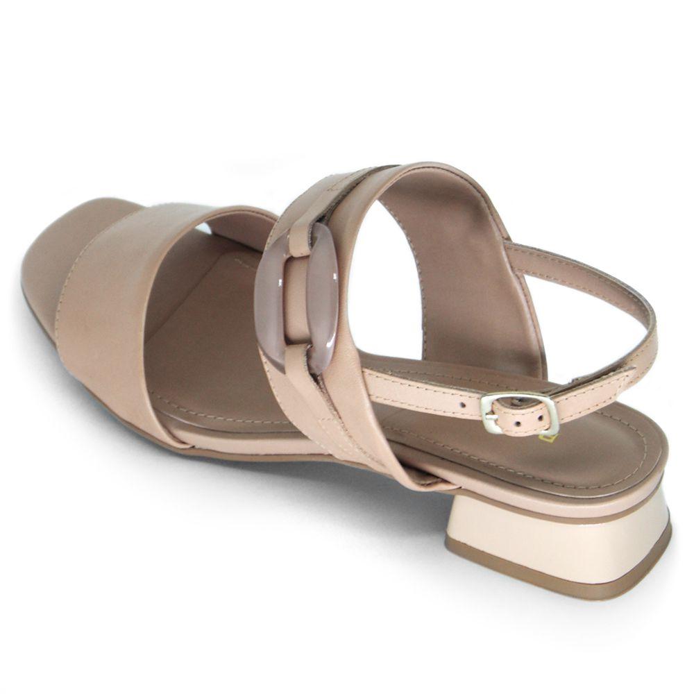 Sandália de Salto Quadrado Baixo Bottero