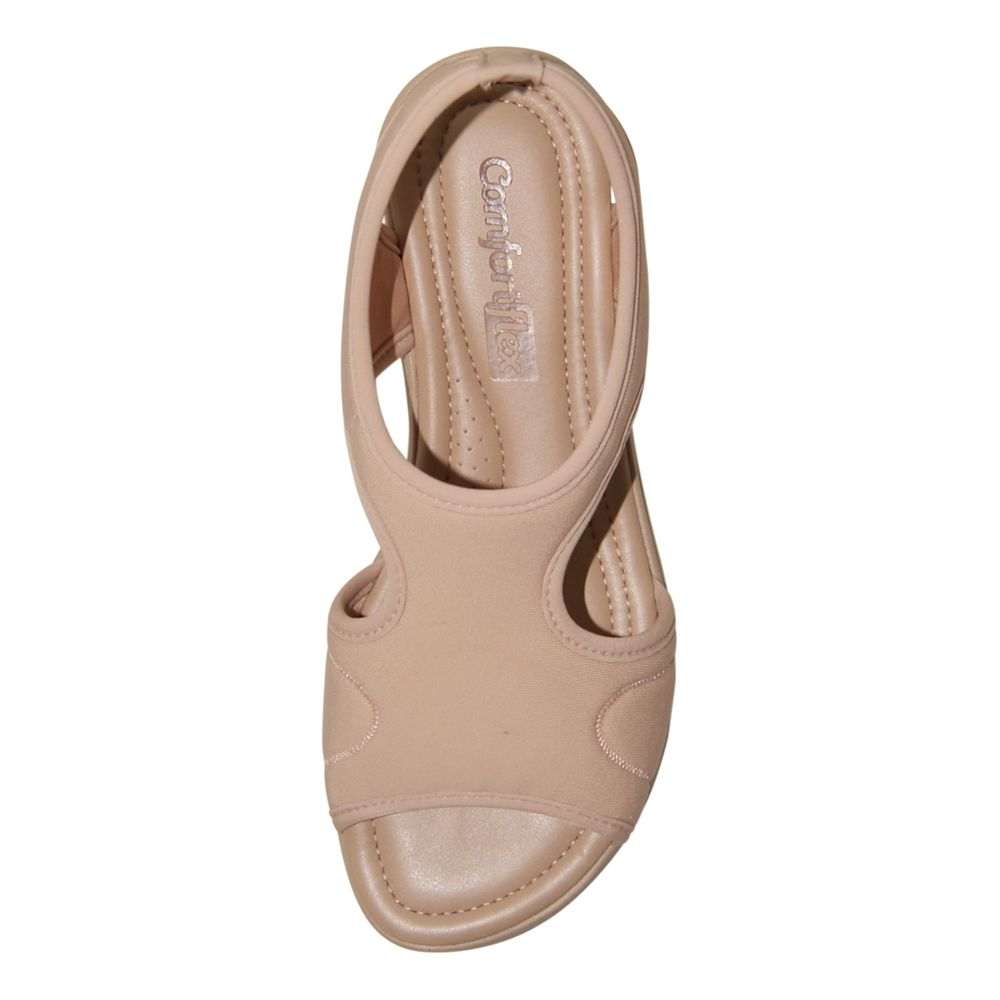 Sandália Comfortflex Salto Baixo Lycra