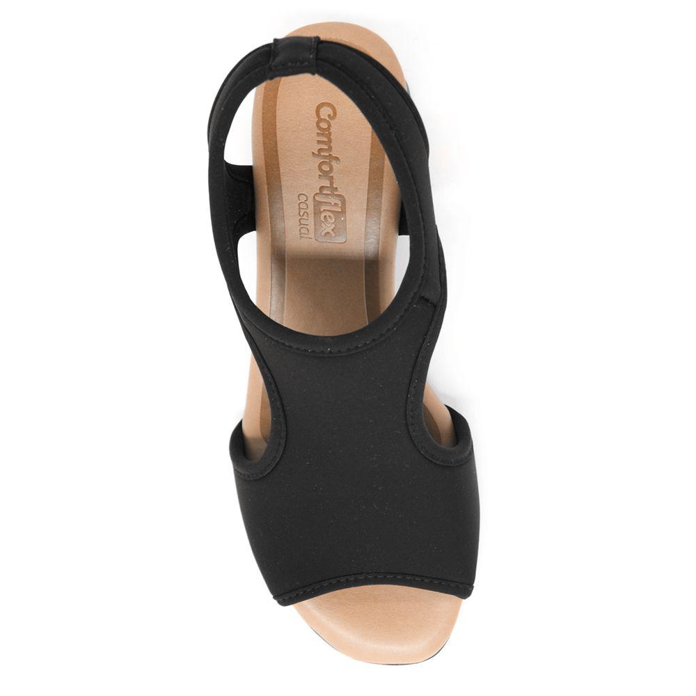 Sandália Comfortflex Salto Baixo Lycra para Joanete