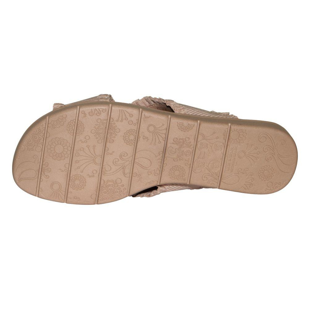 Sandália Comfortflex Salto Baixo Tira Cruzada