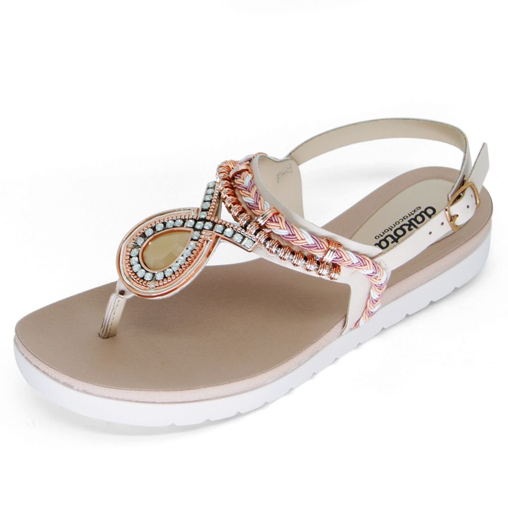 Sandália Dakota Flatform Miçangas