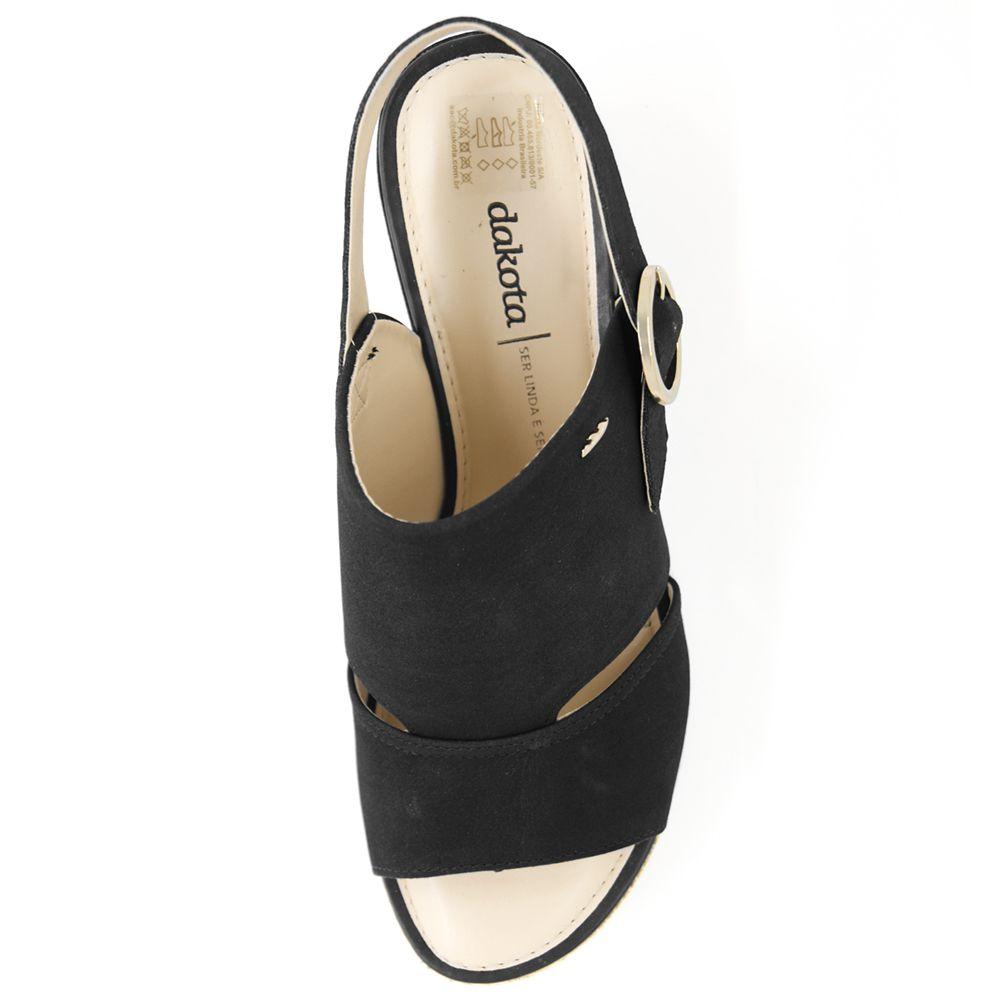 Sandália Dakota Flatform Cordas Preta