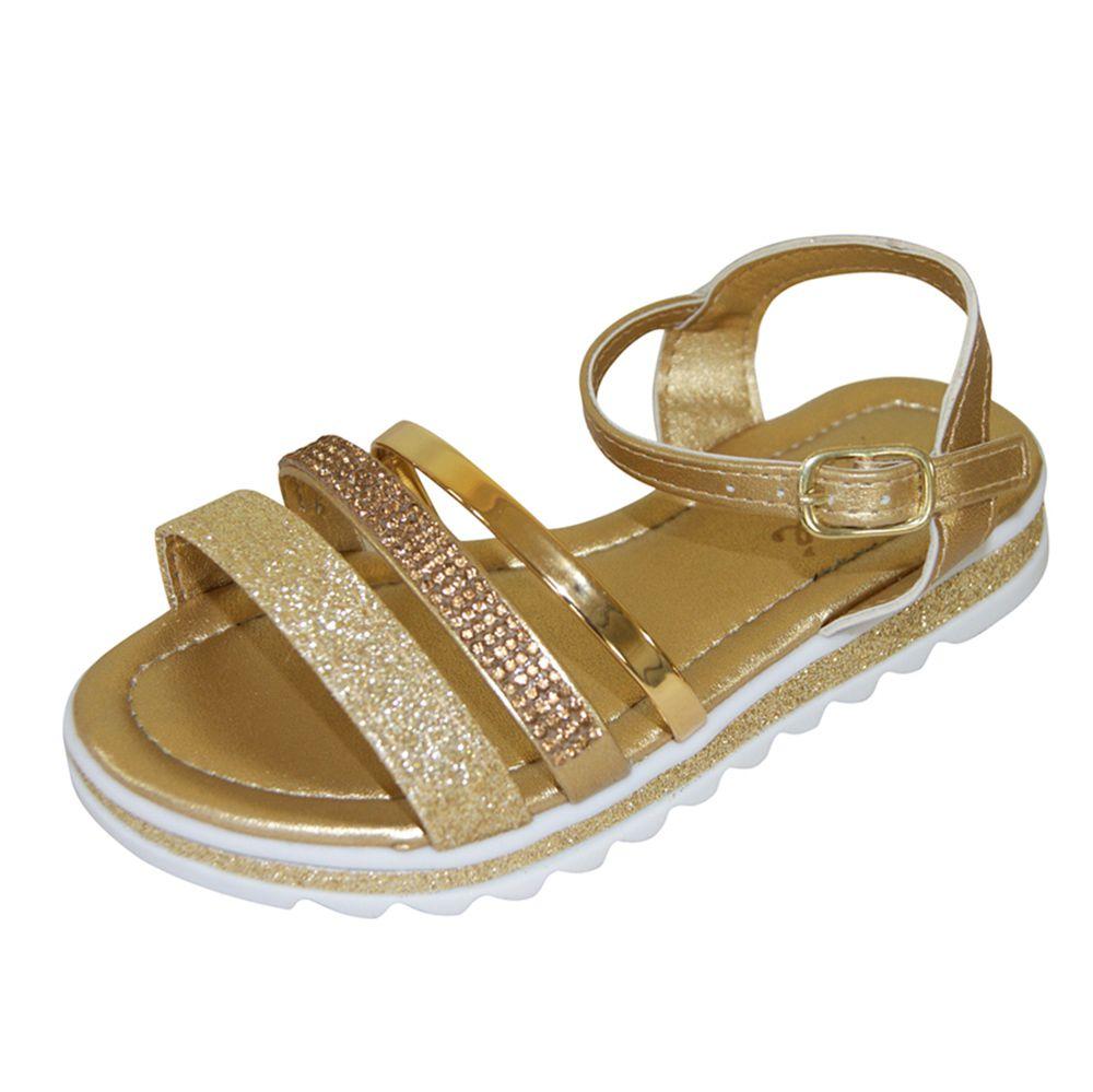 Sandália Klassipé Infantil Ouro Glitter