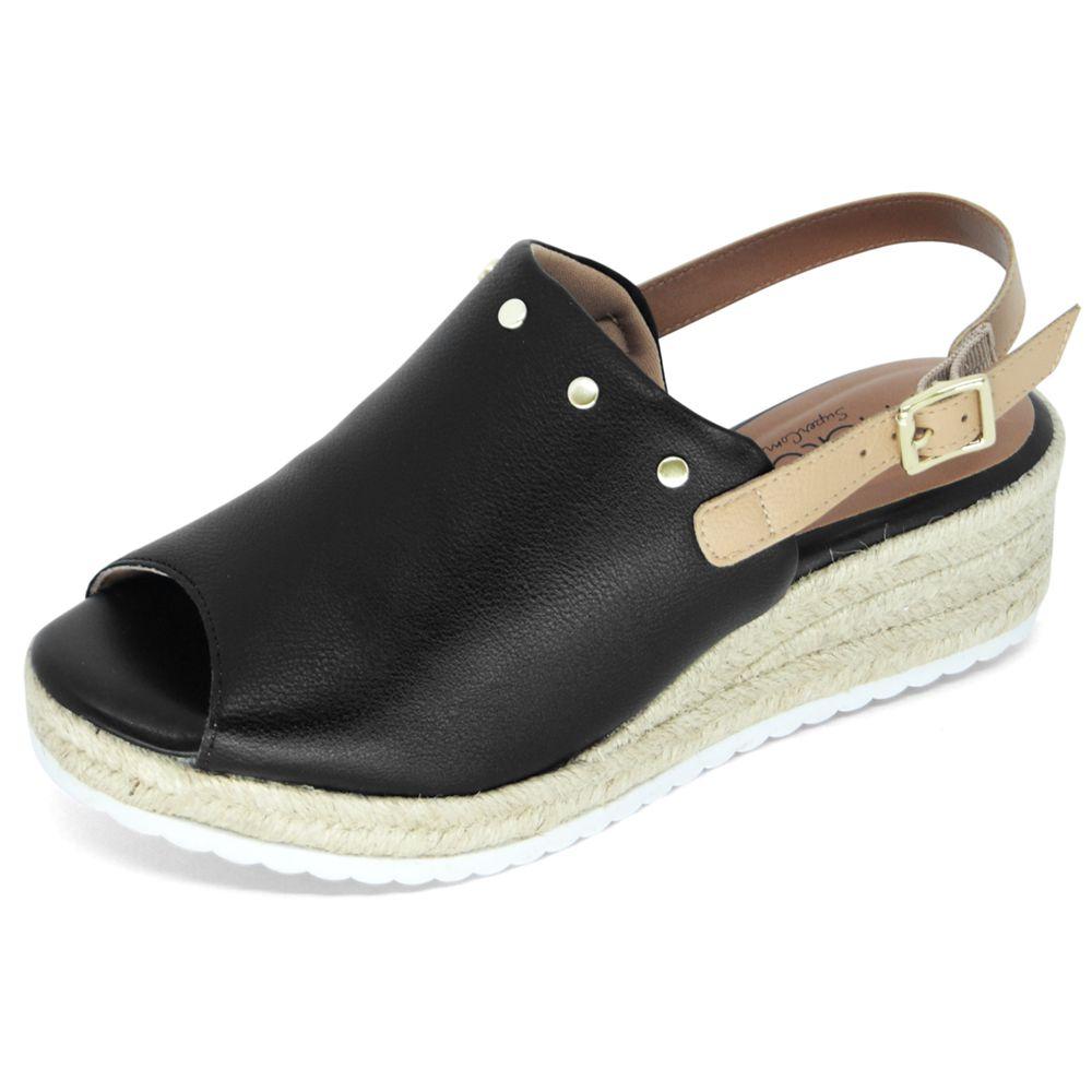 Sandália Malu Super Comfort Anabela Greice