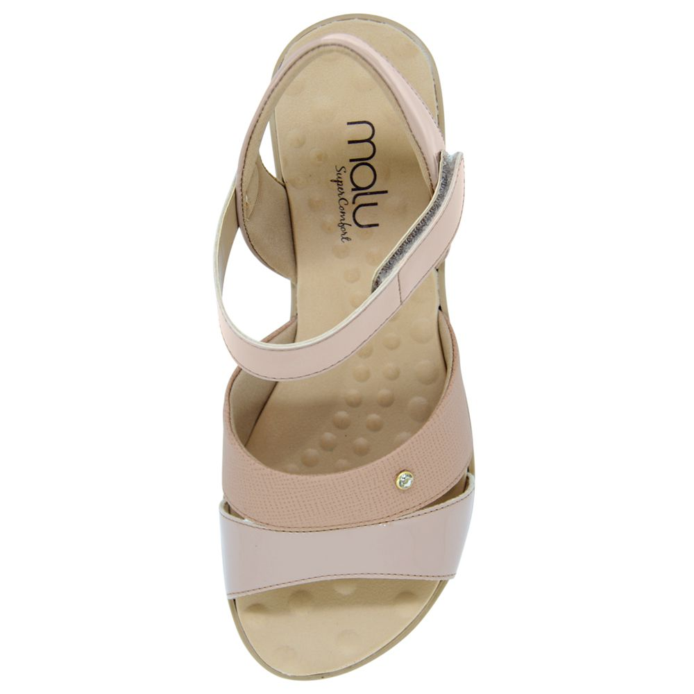 Sandália Malu Super Comfort Velcro Edna