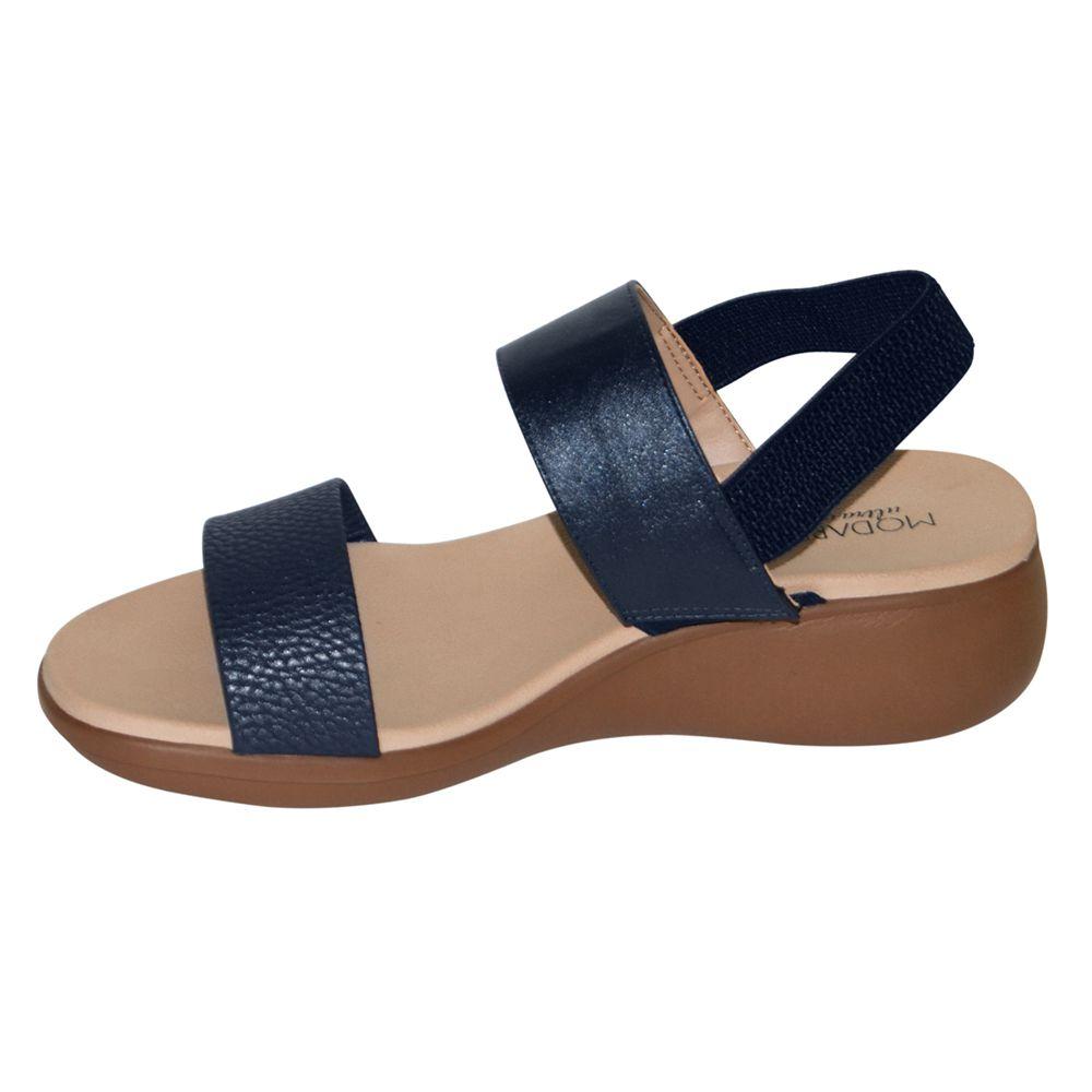Sandália Modare Anabela Azul Marinho