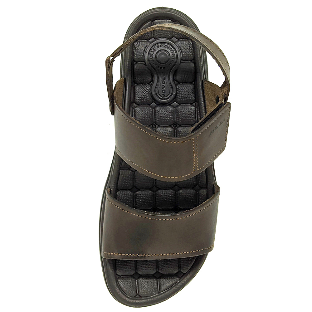 Sandália Pegada Couro com Velcro 131286