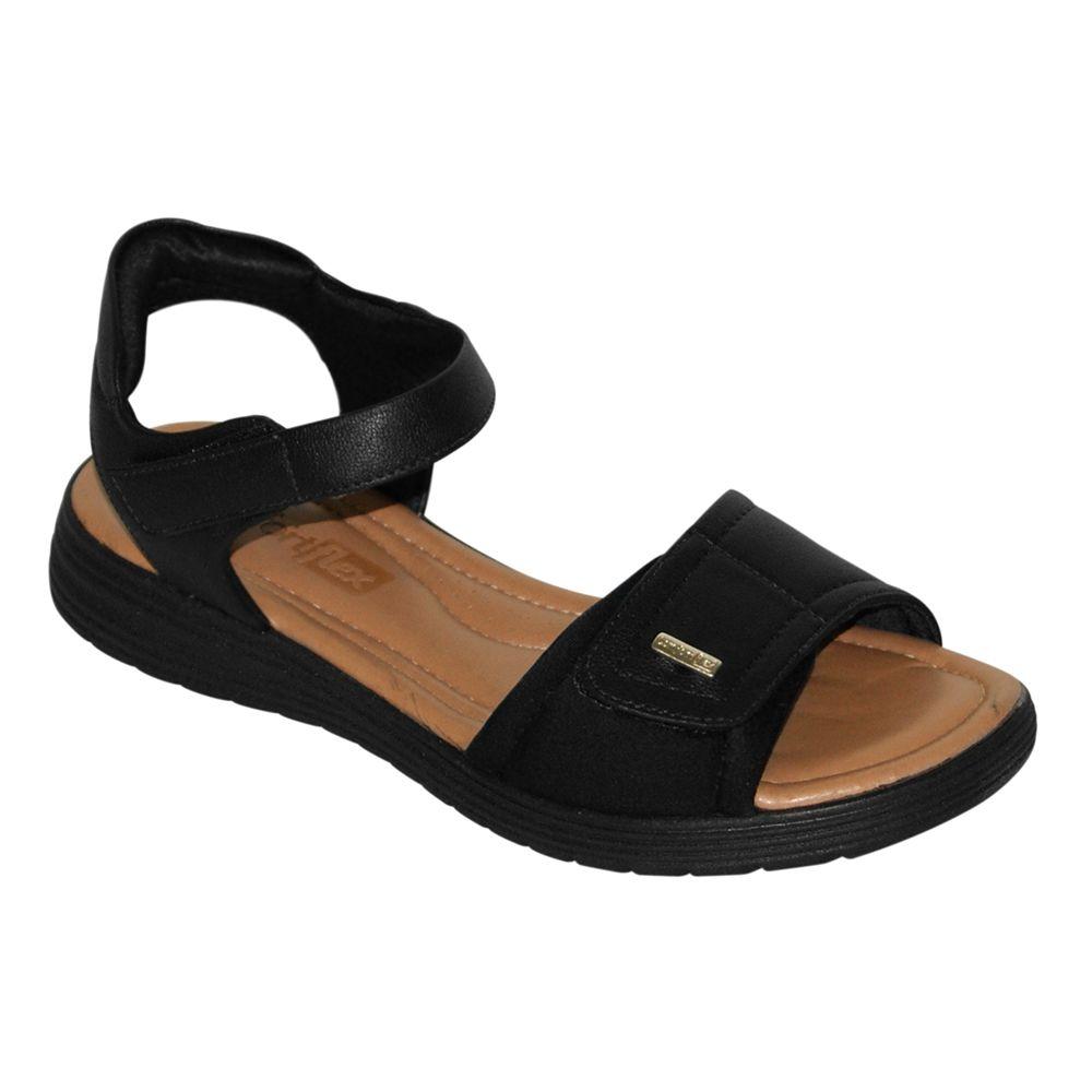 Sandália Rasteira Comfortflex Velcro