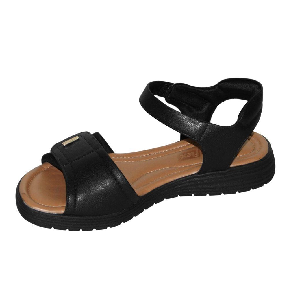 Sandália Rasteira Comfortflex Ortopédica Velcro