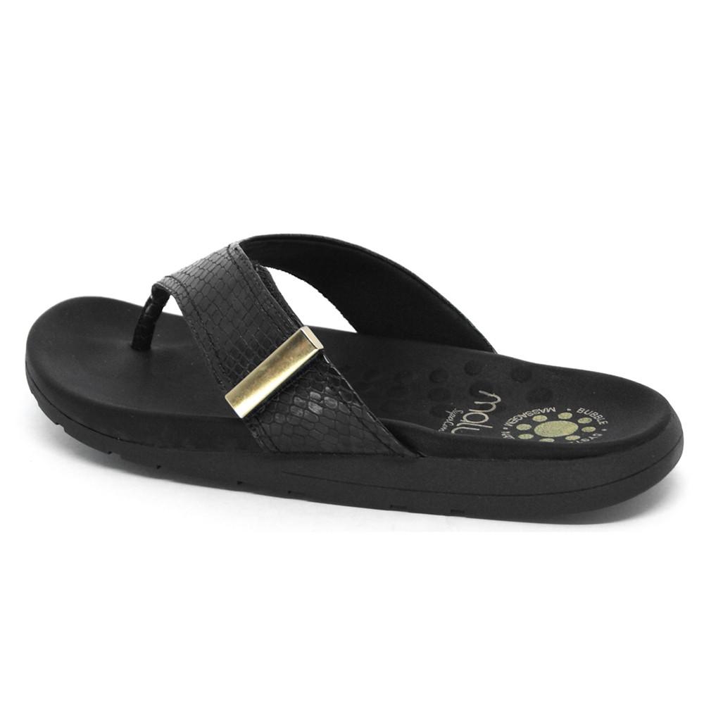 Sandália Rasteira de Dedo Malu Aria com Velcro