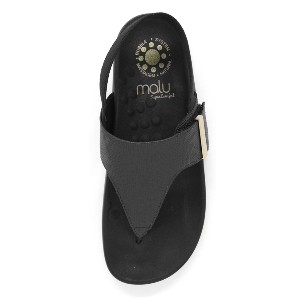 Sandália Rasteira de Dedo Malu Aria com Velcros