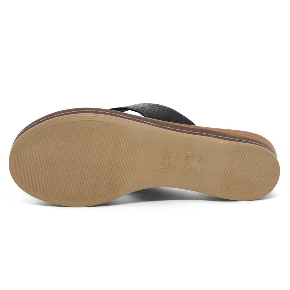 Sandália Rasteira de Dedo Malu Nubia com Laço