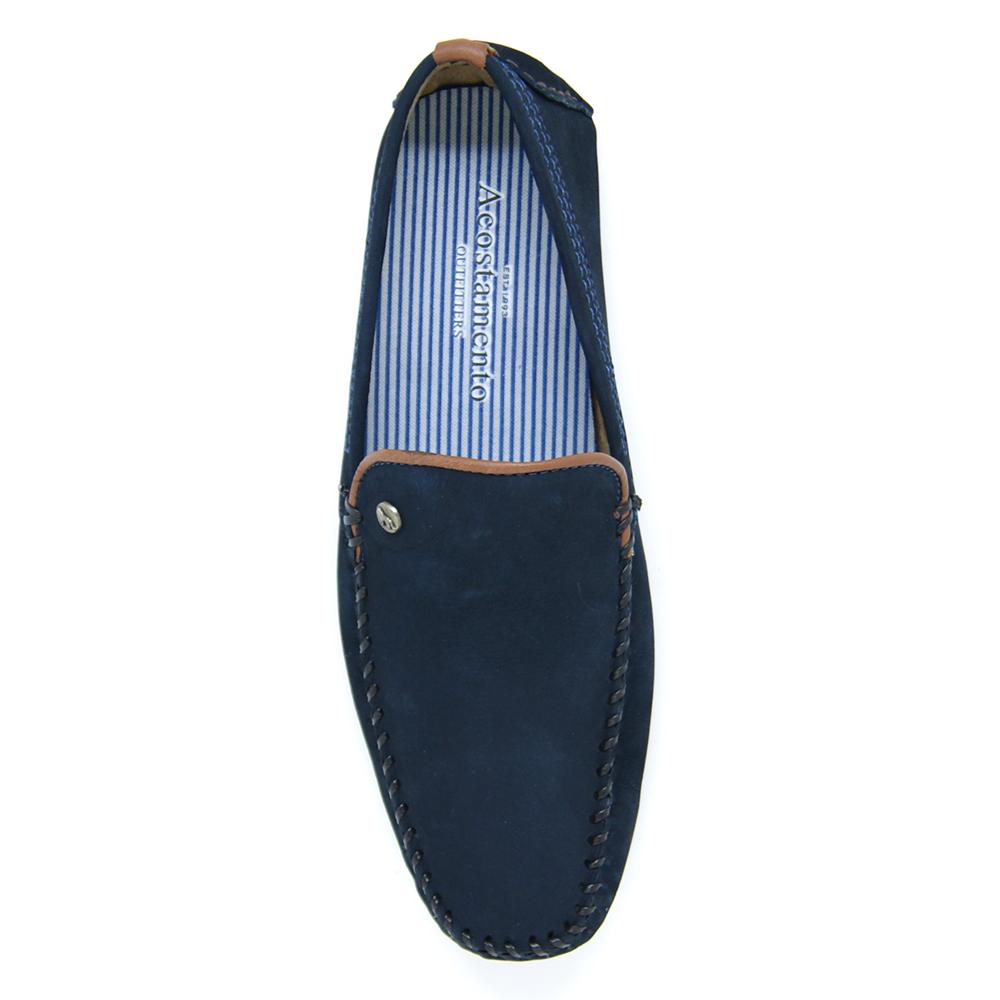 Sapato Drive Acostamento Couro Nobuck 11534002