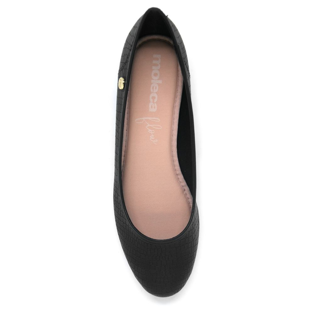 Sapato Moleca Anabela Croco Preto