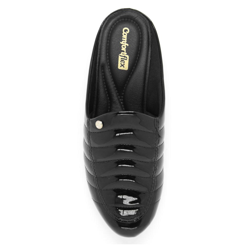 Sapato Mule Comfortflex Verniz