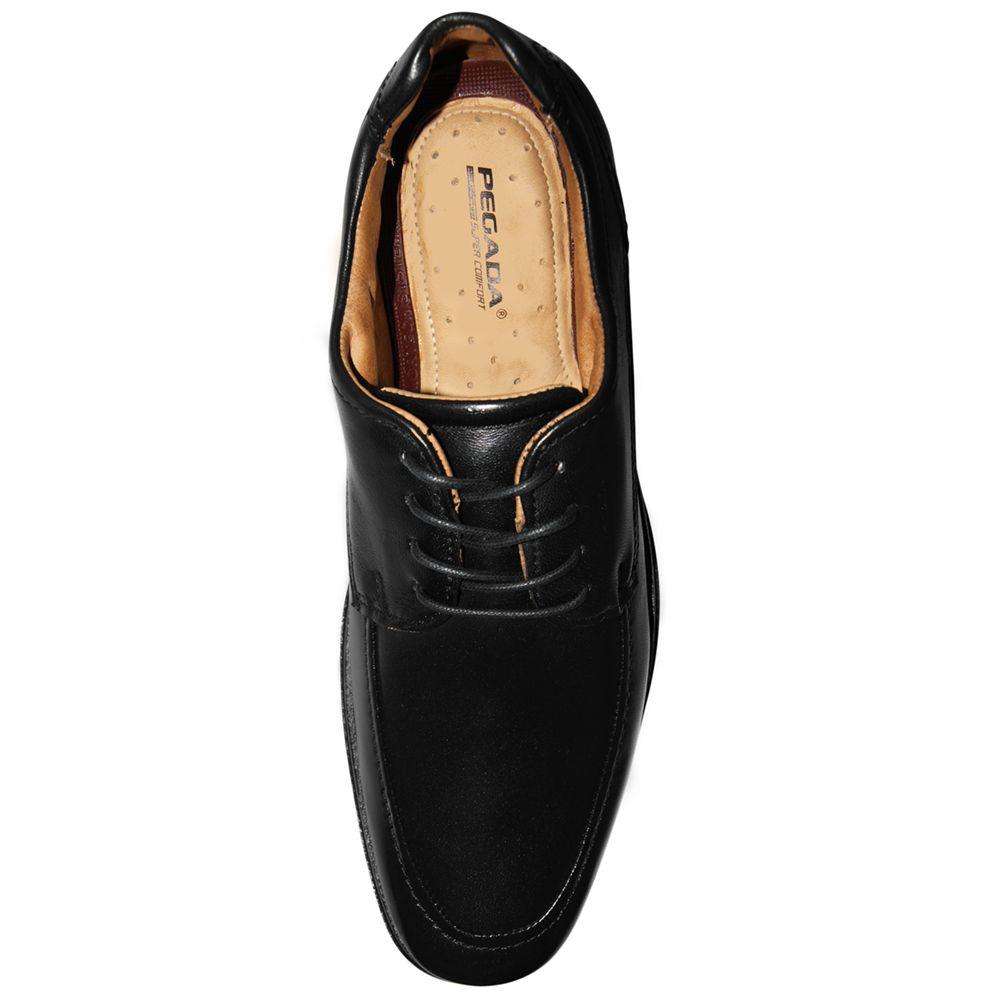 Sapato Social Pegada Couro Cadarço