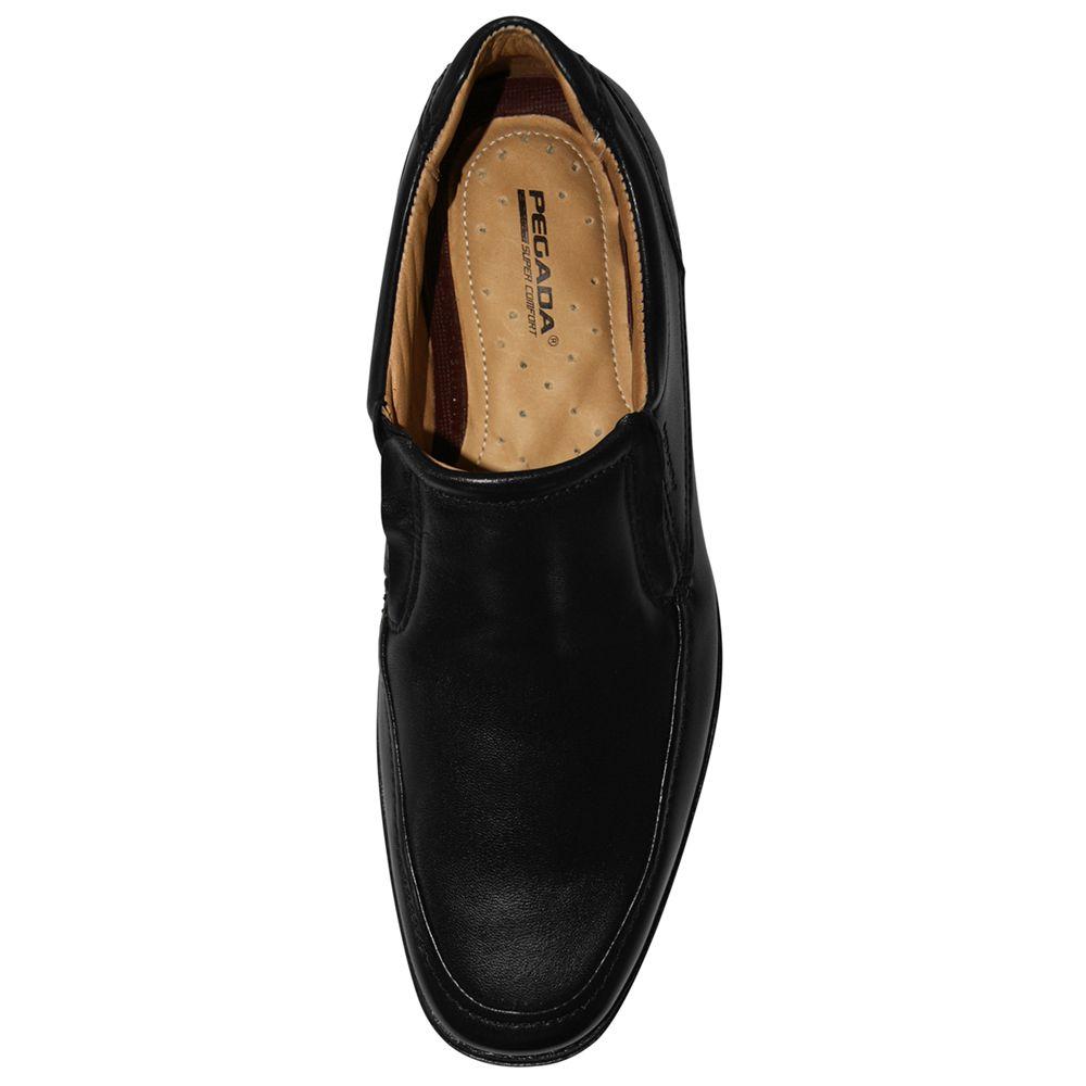 Sapato Social Pegada Couro Sem Cadarço