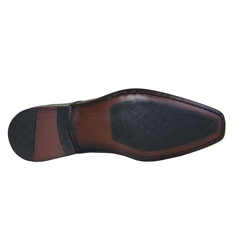 Sapato Social Gofer Couro Verniz Cadarço