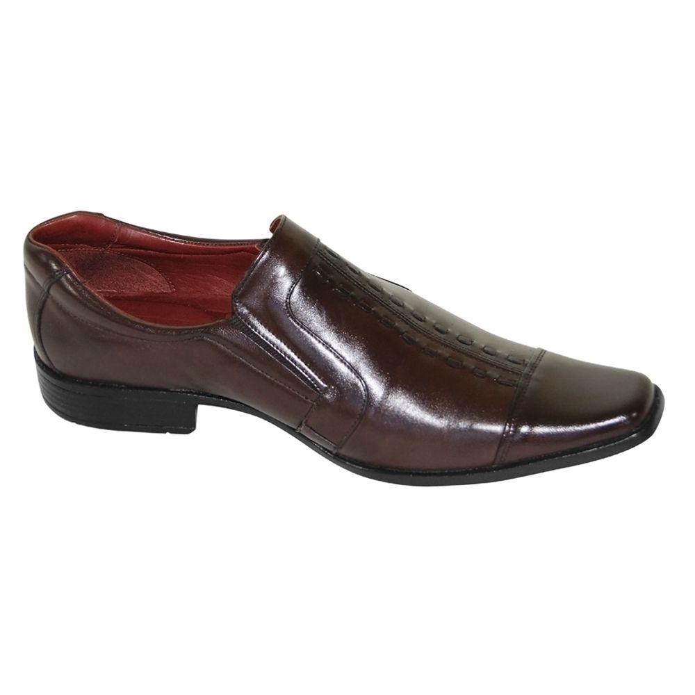 Sapato Social Gofer Couro Verniz
